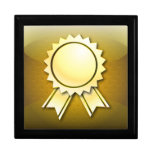 Cinta o medalla de oro del premio de Giftbox Caja De Recuerdo
