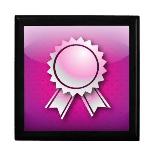 Cinta o medalla del premio del rosa de Giftbox Caja De Recuerdo