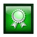 Cinta o medalla del premio del verde de Giftbox Caja De Joyas