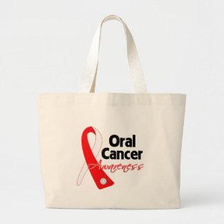Cinta oral de la conciencia del cáncer bolsa tela grande