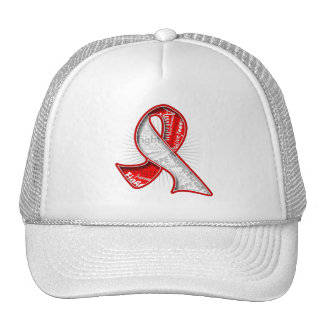 Cinta oral de la filigrana del lema del cáncer gorras