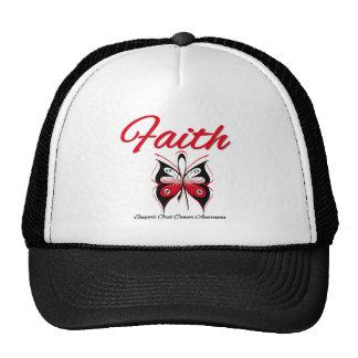 Cinta oral de la mariposa de la fe del cáncer gorro