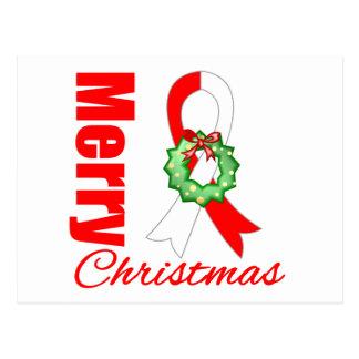 Cinta oral de las Felices Navidad de la conciencia Postales