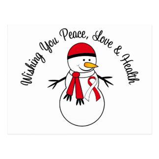 Cinta oral del cáncer del muñeco de nieve del postales