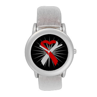 Cinta oral del corazón del cáncer relojes de pulsera