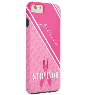 Cinta orgullosa del rosa del superviviente del funda resistente iPhone 6 plus