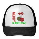 Cinta Ornanment del bulbo de las Felices Navidad Gorras