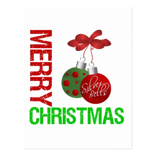 Cinta Ornanment del bulbo de las Felices Navidad Tarjeta Postal