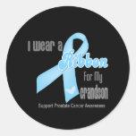 Cinta para mi nieto - cáncer de próstata etiqueta redonda