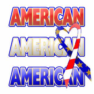 Cinta patriótica americana escultura fotográfica