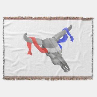 Cinta patriótica del estilo del cráneo occidental manta