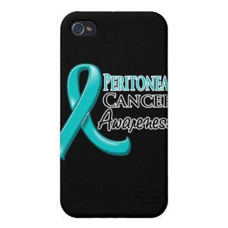 Cinta peritoneal de la conciencia del cáncer iPhone 4/4S fundas