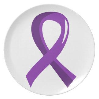 Cinta púrpura 3 de la malformación de Chiari Platos Para Fiestas