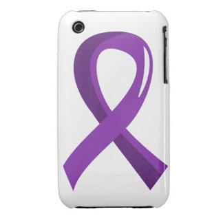Cinta púrpura 3 del cáncer pancreático Case-Mate iPhone 3 carcasa