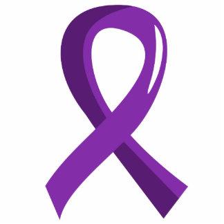 Cinta púrpura 3 del cáncer pancreático escultura fotografica