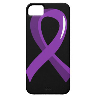 Cinta púrpura 3 del cáncer pancreático funda para iPhone 5 barely there