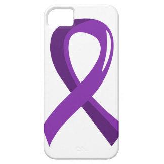 Cinta púrpura 3 del cáncer pancreático iPhone 5 carcasa