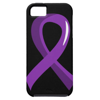 Cinta púrpura 3 del cáncer pancreático iPhone 5 funda