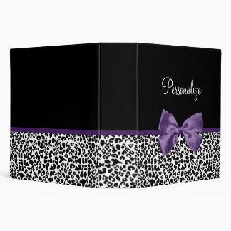 Cinta púrpura bonita del estampado leopardo