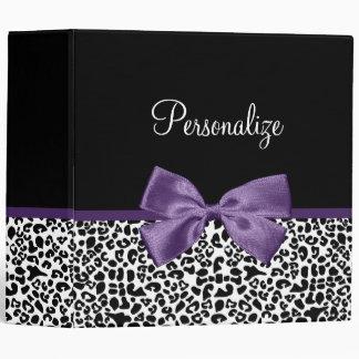 """Cinta púrpura bonita del estampado leopardo carpeta 2"""""""