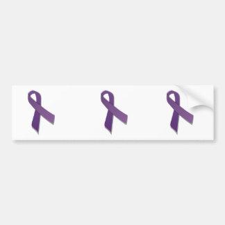 cinta púrpura de la conciencia etiqueta de parachoque