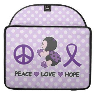 Cinta púrpura de la conciencia de la esperanza del funda macbook pro