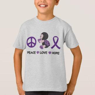 Cinta púrpura de la conciencia de la esperanza del playera