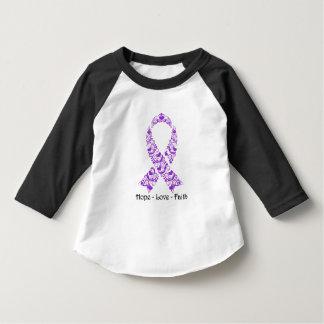 Cinta púrpura de la conciencia de la esperanza playera