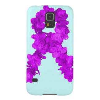 Cinta púrpura de la conciencia de la flor funda para galaxy s5