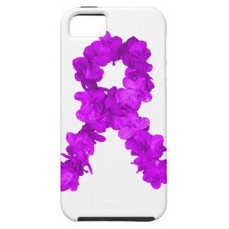 Cinta púrpura de la conciencia de la flor funda para iPhone SE/5/5s