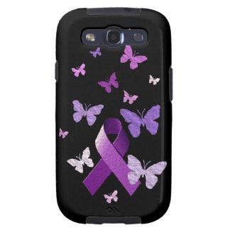 Cinta púrpura de la conciencia samsung galaxy s3 carcasa