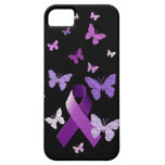 Cinta púrpura de la conciencia iPhone 5 cárcasa