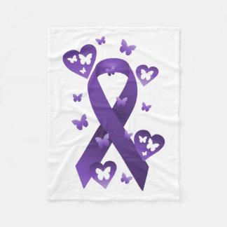 Cinta púrpura de la conciencia manta de forro polar