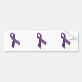 cinta púrpura de la conciencia pegatina para auto