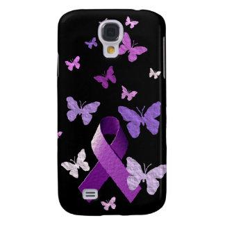 Cinta púrpura de la conciencia samsung galaxy s4 cover