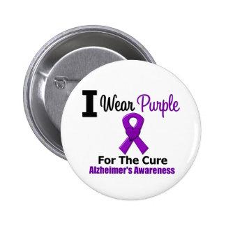 Cinta púrpura de la enfermedad de Alzheimer para l Pin Redondo 5 Cm
