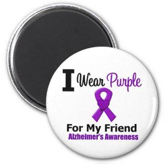Cinta púrpura de la enfermedad de Alzheimer para m Imán Redondo 5 Cm