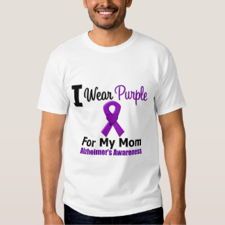 Cinta púrpura de la enfermedad de Alzheimer para Poleras