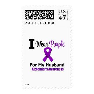Cinta púrpura de la enfermedad de Alzheimer para Timbre Postal
