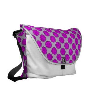 Cinta púrpura de la flor bolsa de mensajeria