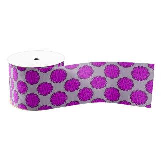 Cinta púrpura de la flor lazo de tela gruesa