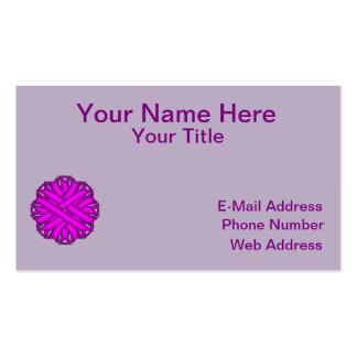 Cinta púrpura de la flor tarjetas de visita