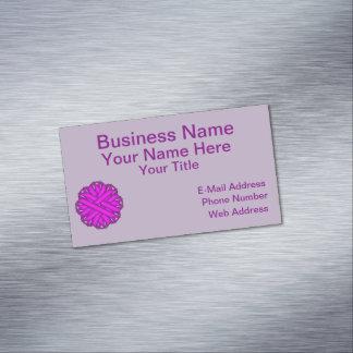 Cinta púrpura de la flor tarjetas de visita magnéticas (paquete de 25)