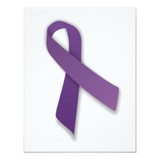 Cinta púrpura de la prevención de la violencia y invitación 10,8 x 13,9 cm