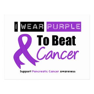 Cinta púrpura del cáncer pancreático para batir al postales