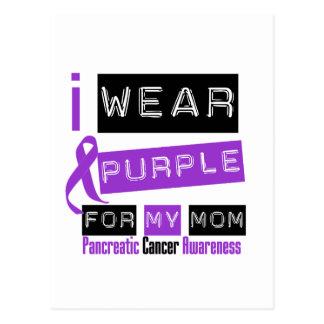 Cinta púrpura del cáncer pancreático para mi mamá postales