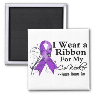 Cinta púrpura del compañero de trabajo - cáncer pa imanes