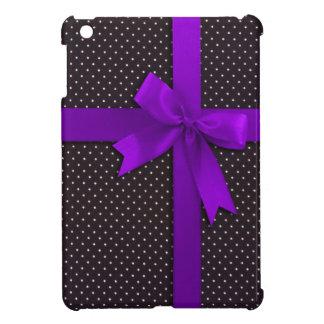 Cinta púrpura del lunar iPad mini protectores