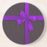 Cinta púrpura del lunar posavasos manualidades