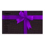 Cinta púrpura del lunar plantillas de tarjetas de visita